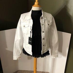 🆕DKNY White Womens Jean Jacket Size M